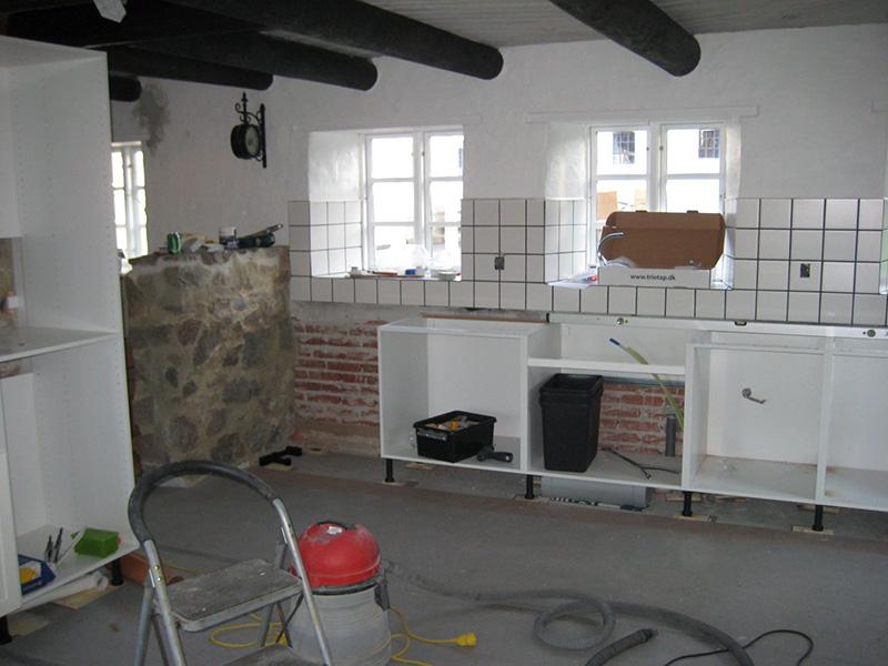 installation af køkken
