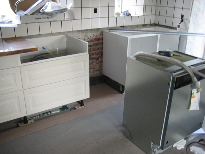 køkken montering